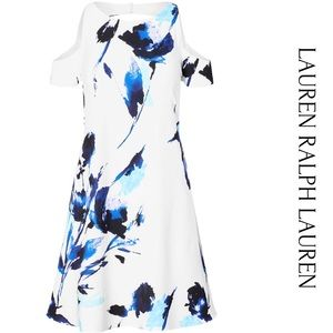 Lauren Ralph Lauren Floral Cold Shoulder Dress 18